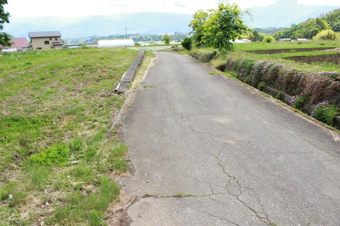 接道。北から撮影