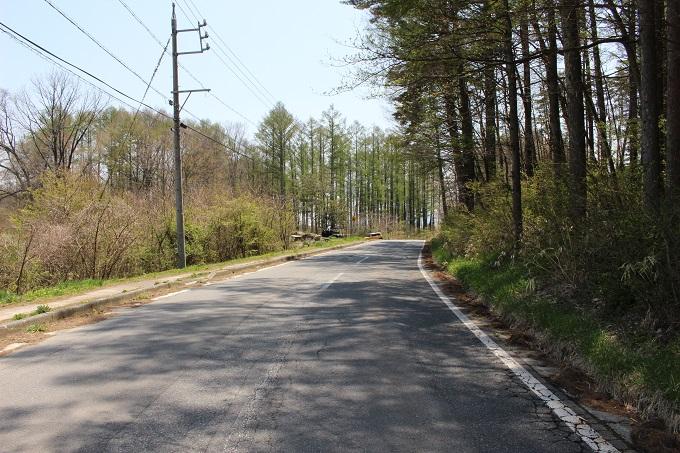 県道17号線。北から撮影