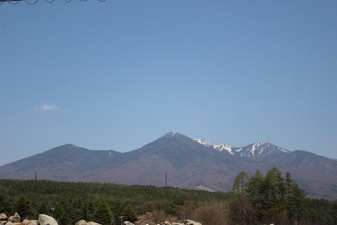 北東に望む八ヶ岳