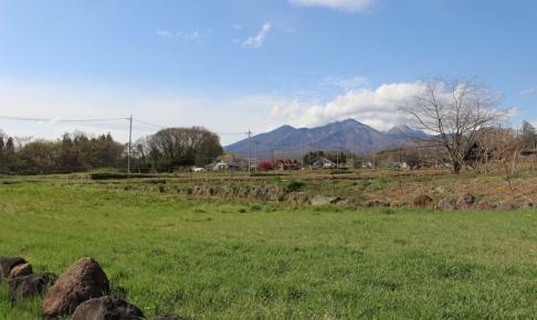 南東から撮影。八ヶ岳の眺望。