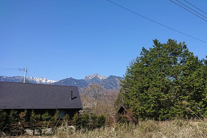 甲斐駒ヶ岳の眺望