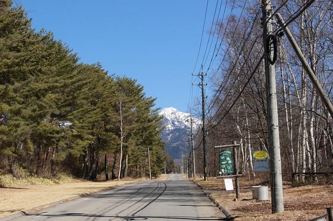 東に見える八ヶ岳